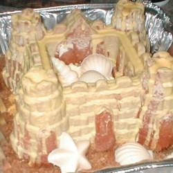 Orange Sandcastle Cake