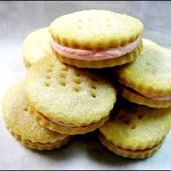 Cream Wafers Recipe - Cookies with a creamy butter filling.