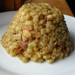 Bacon Barley Risotto