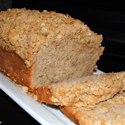 Simply Delicious Banana Crumb Bread Recipe - A cinnamon crumb topping distinguishes this wholesome banana bread made extra flavorful with quick cooking oats, brown sugar, and vanilla extract.