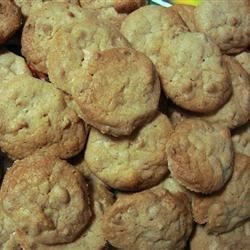 White Chocolate Macadamia Nut Cookies I Recipe - Rich, slightly crunchy dropped cookies bursting with macadamia nuts and white chocolate chunks.