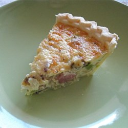 Easy Bacon and Cheese Quiche Recipe and Video - This is an easy, delicious quiche that will take no time to prepare and your friends will ask for the recipe!  I have made this for numerous office gatherings and everyone raves about it!
