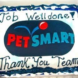 Petsmart logo in fondant