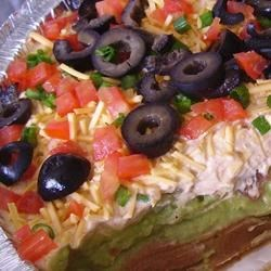 California Taco Dip Recipe - This creamy Mexican-inspired dip is made extra delicious with the addition of mayonnaise to the mixture!