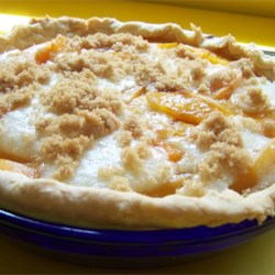 Sour Cream Peach Pie Recipe - This recipe combines the delicious flavors of peaches with sour cream and a hint of almond extract.