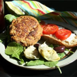 Vegetarian Faux Chicken Patties Recipe - These patties are easy and can be served in place of fish patties or chicken for flavor. Vegetarian fried chicken combined with celery, onion, green pepper, eggs and stuffing, formed into patties and fried.  Use your favorite herbs and spices to jazz it up.