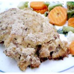 Poulet a la Saucisse Recipe - Chicken breast stuffed with a sausage-based dressing. Very Good!