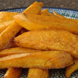 Baked Sweet Potato Sticks Recipe - Best eaten at room temperature. Originally submitted to ThanksgivingRecipe.com.
