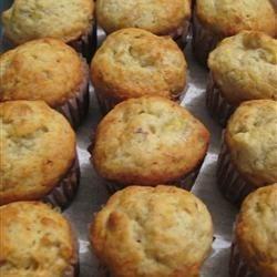 mini banana muffins with walnuts
