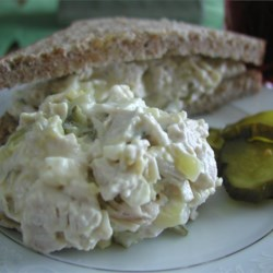 Annie's Turkey Salad Recipe - This turkey salad can be made with leftover turkey, or a turkey breast. It is my great-grandmother's recipe. Serve with assorted crackers or breads.