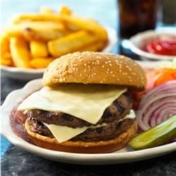 Grilled BBQ Cheeseburger
