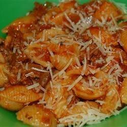 Slumgullion Recipe - Ground beef, macaroni and tomato, great flavor and a quick cooking time.