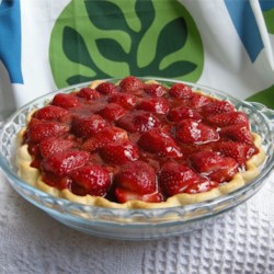 Strawberry Pie II Recipe - Half of this pie's strawberries are arranged in a baked pastry shell, and the other half are crushed and cooked until thick and bubbly. This lovely glaze is then poured over the whole berries in the pastry shell. Chill this pie for several hours and serve it with mounds of whipped cream.