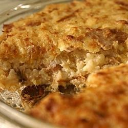 Tuna Rice Puff Recipe - Canned tuna and cooked rice are baked into a souffle in this long-time family favorite.