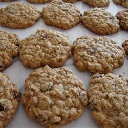Oatmeal Raisin Cookies IX Recipe - This is an oatmeal raisin cookie developed to use vegetable oil instead of solid fats.  It is a slight modification of one with which I won first place in a company sponsored contest where I work.