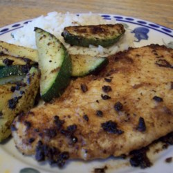 Lime Garlic Chicken with Zucchini and Rice