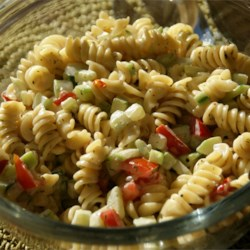 Best Ever Pasta Salad Recipe - Yummy penne pasta recipe with cucumbers, tomatoes and seasonings. So easy it's worth a try.