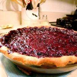 Open Faced Concord Grape Pie