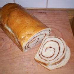 amish white bread with cinnamon swirl