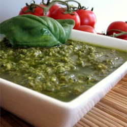 Pesto Sauce Recipe and Video - Quick and easy pesto to top your pasta.  A great change from red sauce.