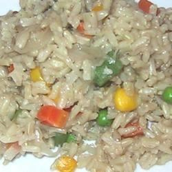 Indian Vegetable Rice Recipe - Basmati rice enhanced with the flavors of jeera (cumin), garam masala, mixed vegetables and onions.