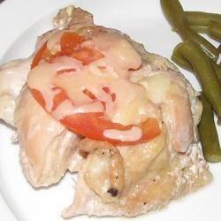 Chicken in tomato and mushroom sauce