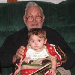 Megan & her great-grandpa, Keith