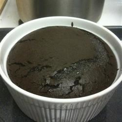 Deep Dark Chocolate Souffle