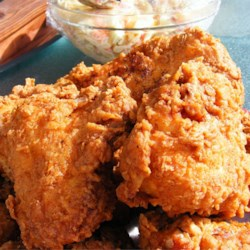 Triple Dipped Fried Chicken Recipe and Video - This is the crispiest, spiciest, homemade fried chicken I have ever tasted! It is equally good served hot or cold and has been a picnic favorite in my family for years.