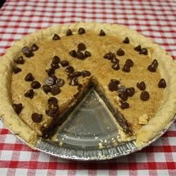 Chocolate Chip Pie I Recipe -  This pie is very rich with a cup of butter, a cup of chocolate chips, a cup of sugar and a cup of chopped walnuts. And there 's a few other tasty ingredients. They all bake up famously into a delicious 9-inch pie.