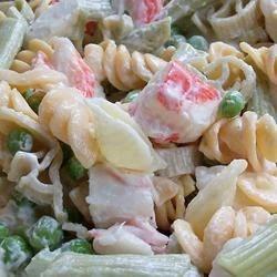 Colorful Seafood Pasta Salad