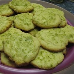 Cornmeal Cookies III Recipe - Lime flavored and glazed cornmeal cookies  Use lemon extract if you can't find lime.