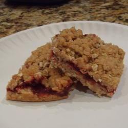 Oatmeal Raspberry Bars