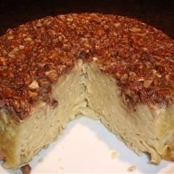 Pecan Noodle Kugel Recipe - A noodle kugel coated with a brown sugar and pecan mixture served hot out of the oven is sweet enough to work as a dessert.