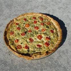 Tomatoe, feta & spinach quiche