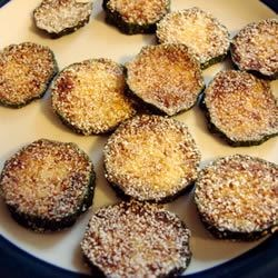 Fried Zucchini Recipe - Simple and delicious recipe for tender zucchini with a thin, crispy coating of cornmeal.