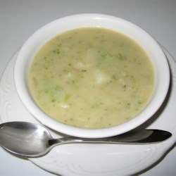 Potato, Broccoli and Cheese Soup Recipe - A cheesy, potato broccoli soup that tastes great.