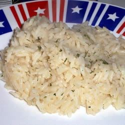 Chicken Bouillon Rice Recipe - White rice flavored with chicken bouillon.