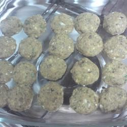 Mushroom Stuffing Balls Recipe - My father loves mushrooms and this is his favorite appetizer. Goes well with a Holiday meal.