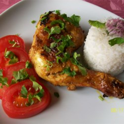 Indian Tandoori Chicken Recipe - Chicken is marinated overnight in a spicy yogurt marinade then grilled in this authentic recipe for Tandoori chicken.