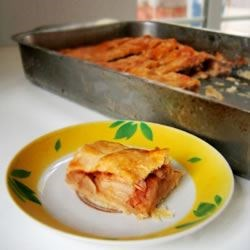 Danish Pastry Apple Bars Recipe - A double-crust apple pie that is baked in a 9x13 inch pan!
