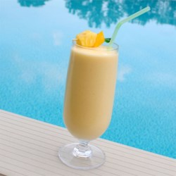 Mango Pina Colada Smoothie Recipe - This is my take on a alcohol-free pina colada.