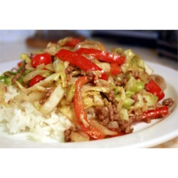 Black Pepper Beef and Cabbage Stir Fry Recipe - A very simple Chinese stir-fry dish which is fabulous in taste. I saw my husband going for two additional servings of it and I had to remind him to leave some for the rest of the family! Serve with hot steamed rice.