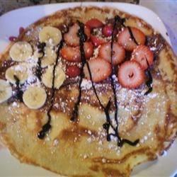 Strawberry+ Banana+Nutella+Choco Syrup Crepe