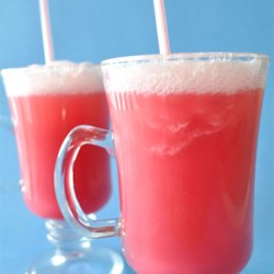 RaSpBeRrY FiZzLeR Recipe - This recipe, made for kids, is a fruity-good drink. Raspberry juice is blended with raspberry sherbet and carbonated water. You can try cranberry-raspberry, or apple-raspberry juice!