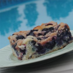 Maritime Blueberry Buckle Recipe - This fresh blueberry buckle is topped with a cinnamon streusel in this traditional recipe from eastern Canada where blueberries grow wild and abundantly each summer.