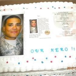 Our Hero's cake!