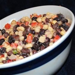 California Bean Dip Recipe - This eye-pleasing combination of white corn, black beans and Mexican-style seasonings is irresistible! Serve it with corn chips.