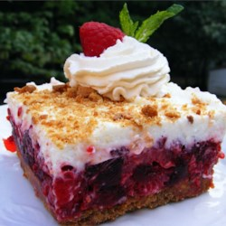 Raspberry Icebox Cake Recipe - What a lovely refreshing dessert for those hot summer days.