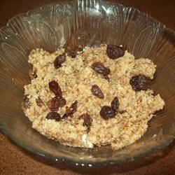 Breakfast Porridge Recipe - Oat bran, wheat bran, wheat germ, and flax seed mix with chopped prune and water for a quick and easy breakfast.